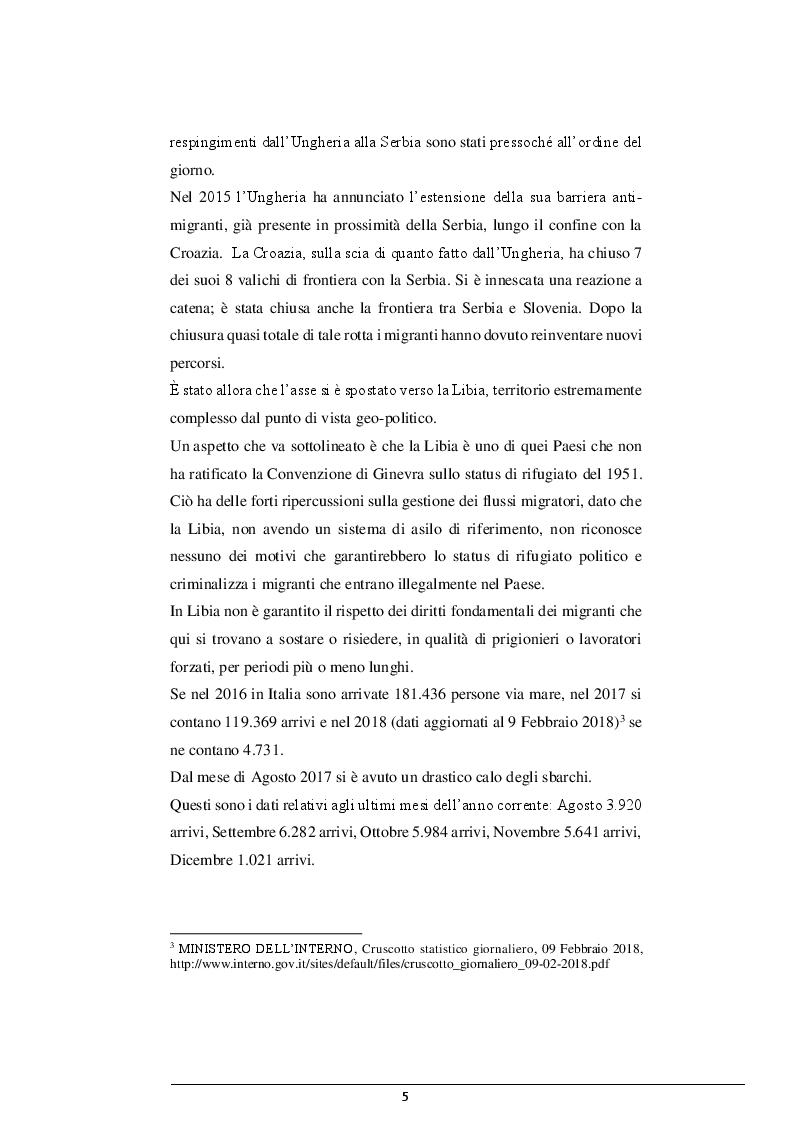 Anteprima della tesi: La cooperazione Italia-Libia e le violazioni dei diritti dei migranti, Pagina 4