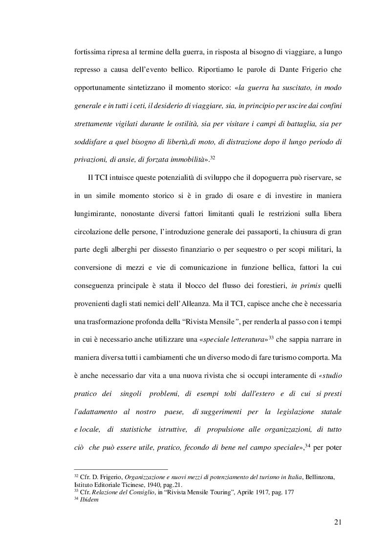 Estratto dalla tesi: Appunti di una nazione che rinasce: il ruolo di testimonianza del Touring Club Italiano nella prima fase della ricostruzione italiana nel secondo dopoguerra