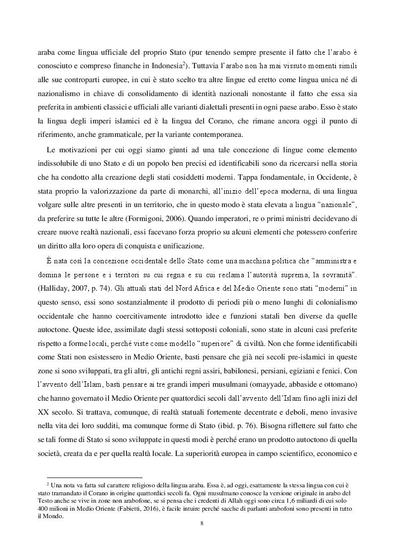 Anteprima della tesi: Storia e Sviluppo dello Stato in Medio Oriente: Dal Colonialismo al Ritorno del Califfato, Pagina 3