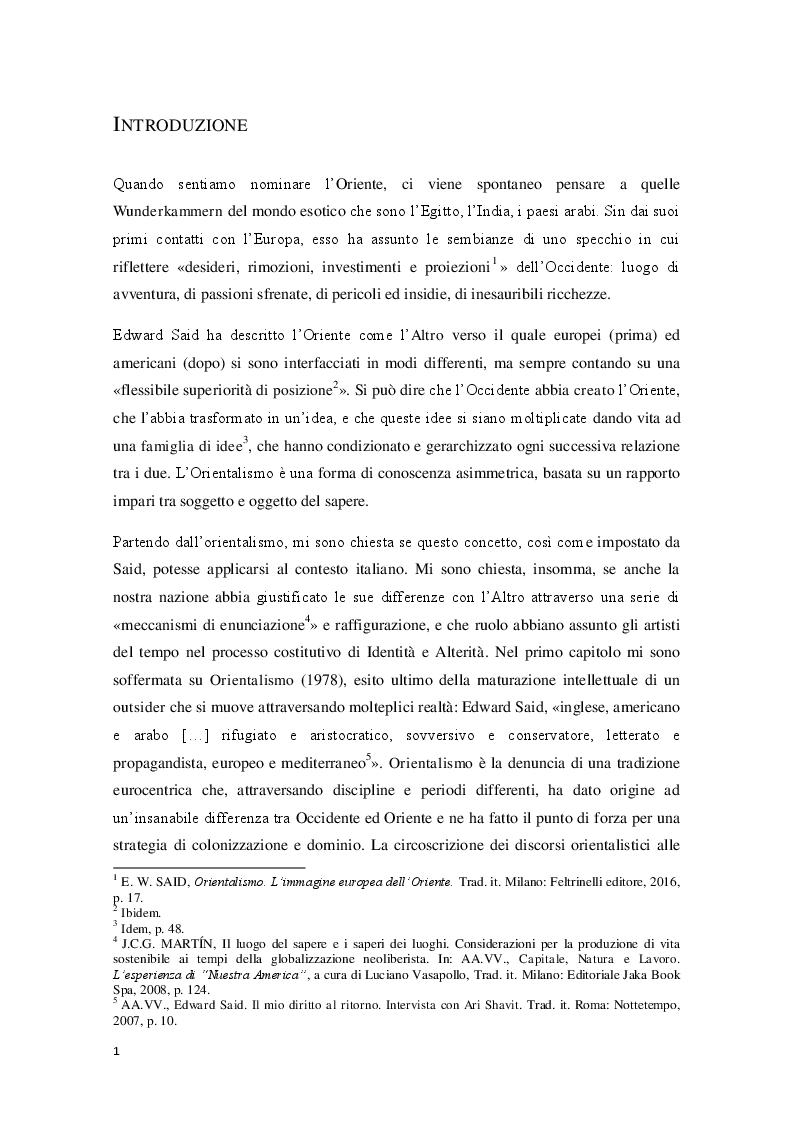 Anteprima della tesi: L'Orientalismo nella costruzione dell'identità e dell'alterità nell'arte coloniale italiana, Pagina 2