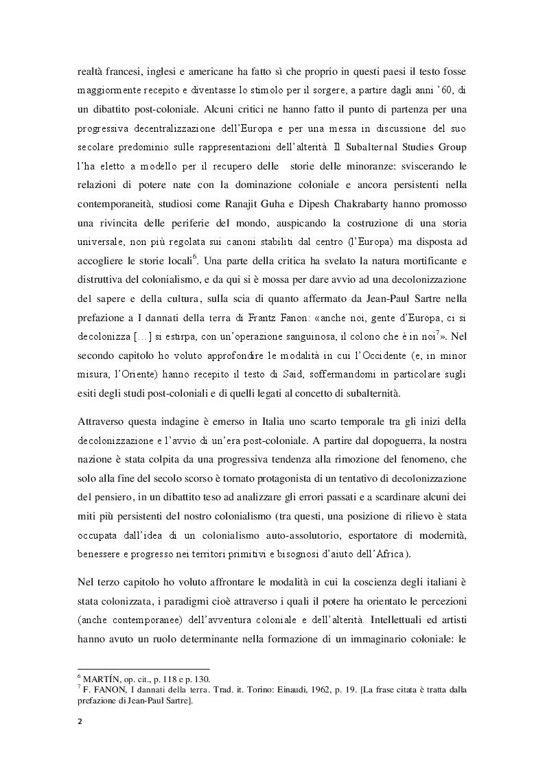 Anteprima della tesi: L'Orientalismo nella costruzione dell'identità e dell'alterità nell'arte coloniale italiana, Pagina 3