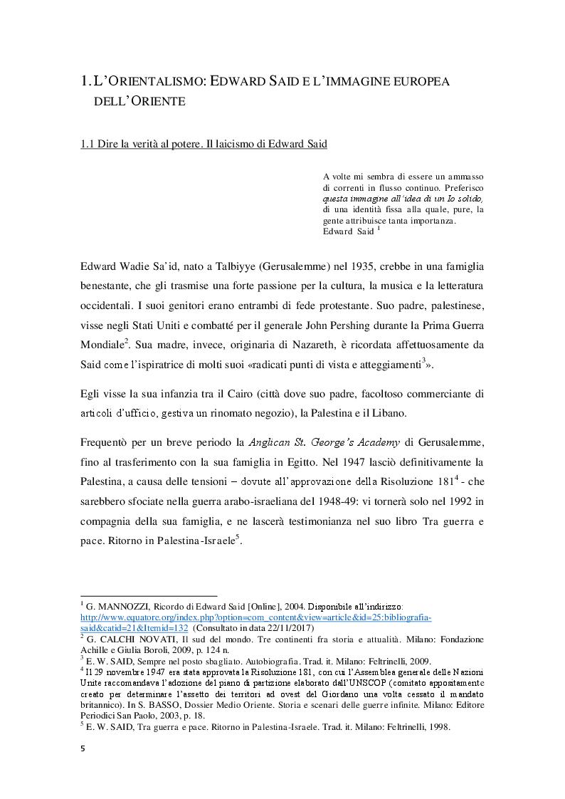 Anteprima della tesi: L'Orientalismo nella costruzione dell'identità e dell'alterità nell'arte coloniale italiana, Pagina 5