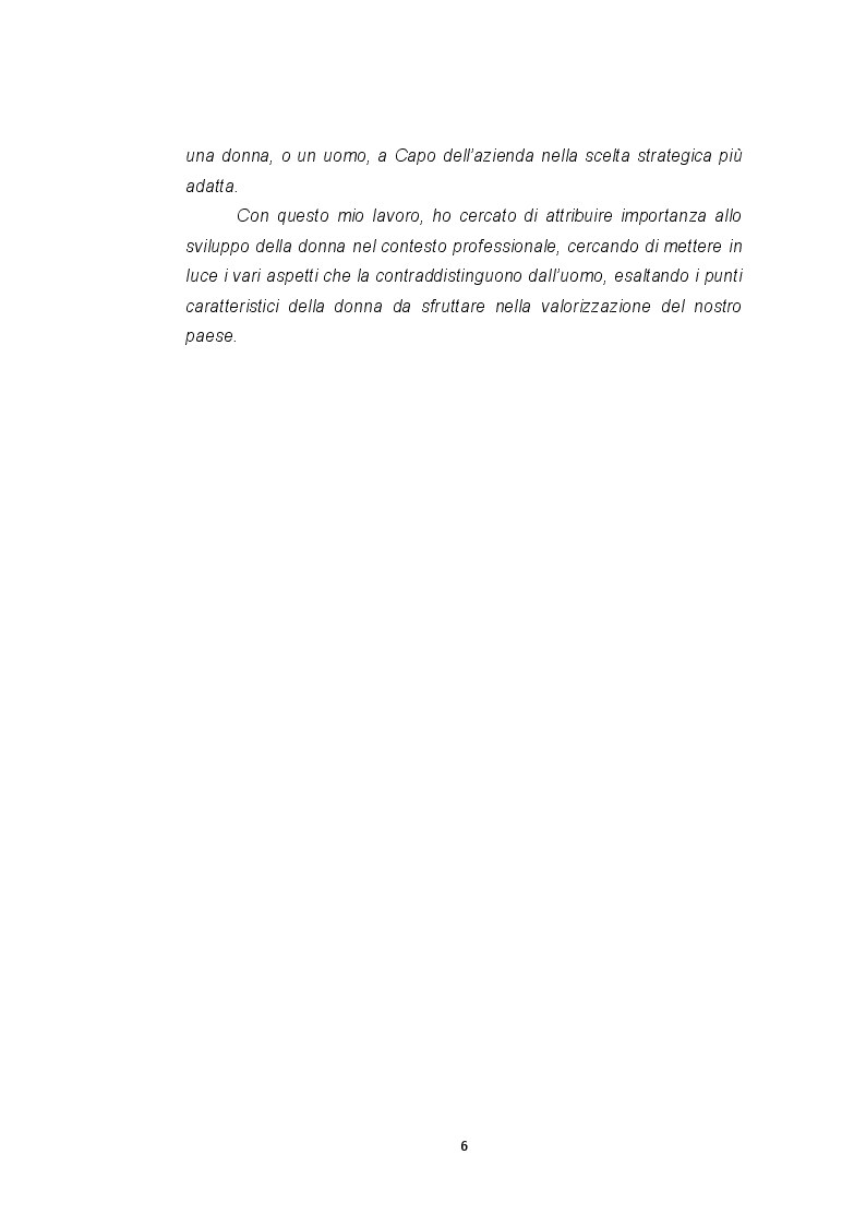 Anteprima della tesi: Le imprese femminili: crisi e processi di risanamento, Pagina 6
