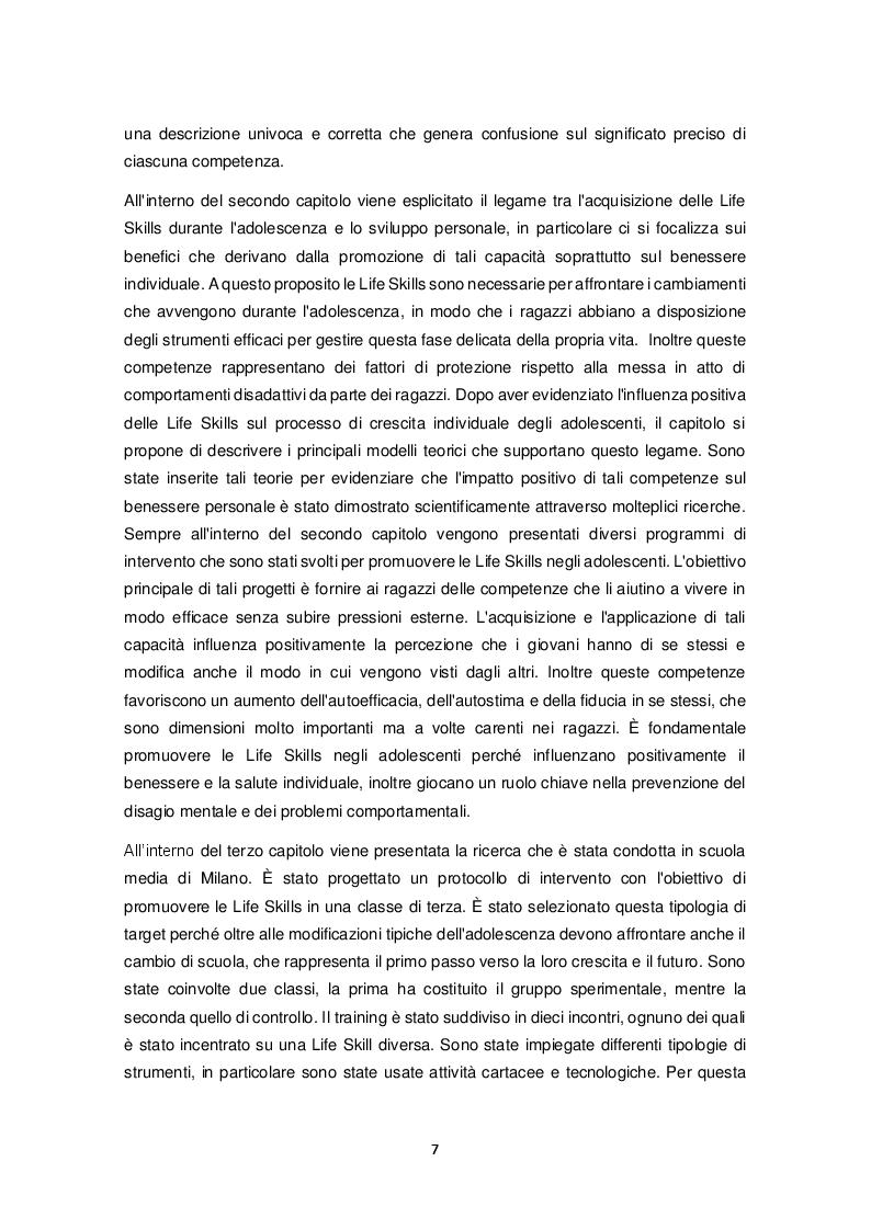 Anteprima della tesi: Promozione delle Life Skills negli adolescenti: descrizione e validazione di un protocollo di ricerca attraverso le nuove tecnologie, Pagina 4