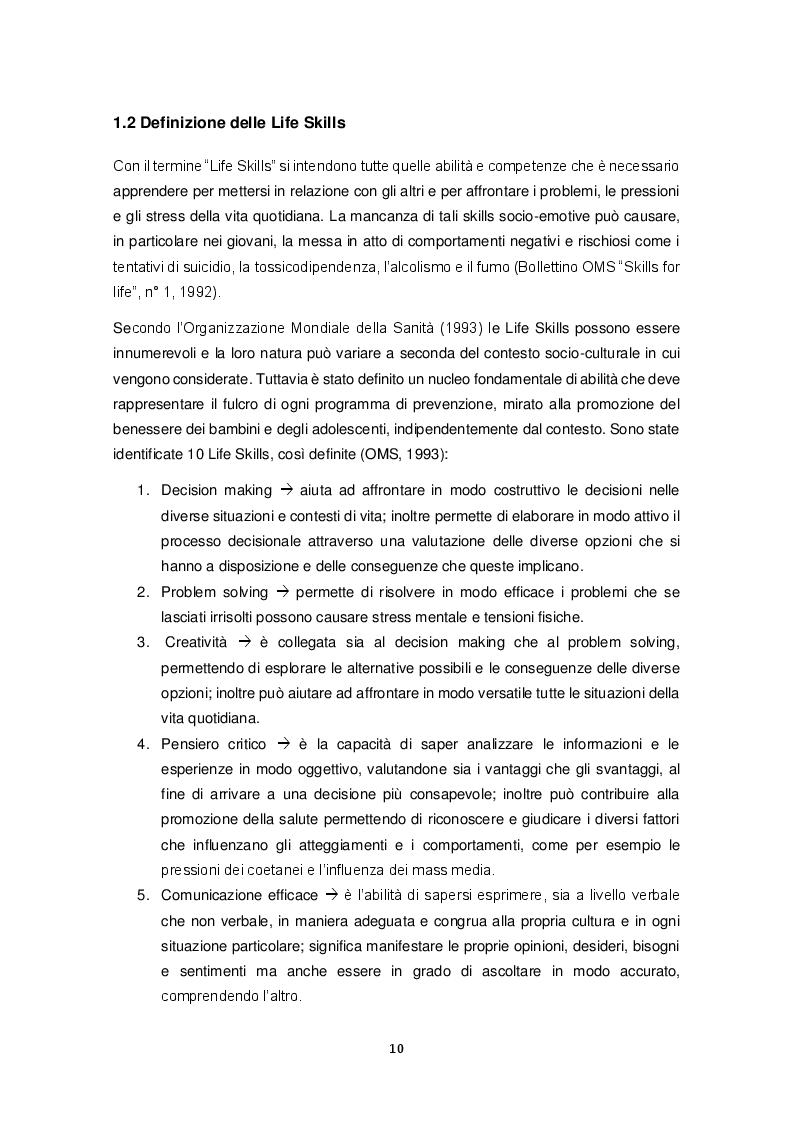 Anteprima della tesi: Promozione delle Life Skills negli adolescenti: descrizione e validazione di un protocollo di ricerca attraverso le nuove tecnologie, Pagina 7