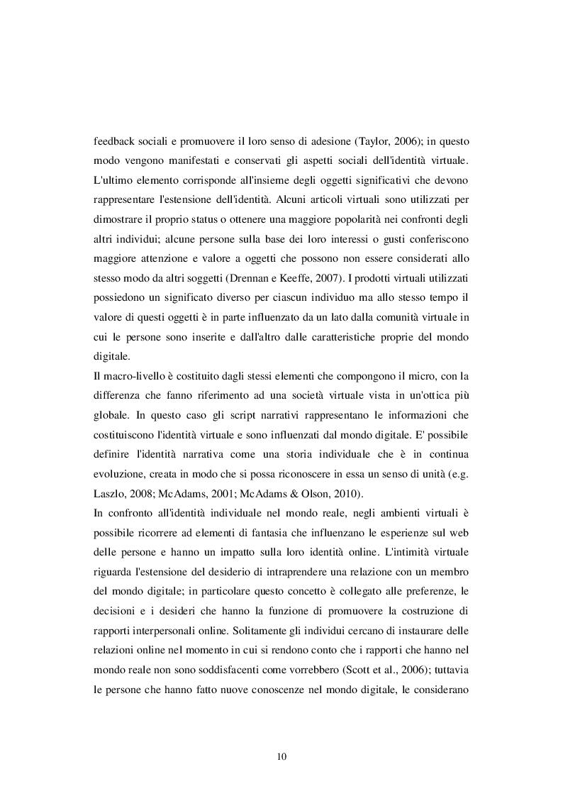 Estratto dalla tesi: Identità personale e virtuale: due facce della stessa medaglia