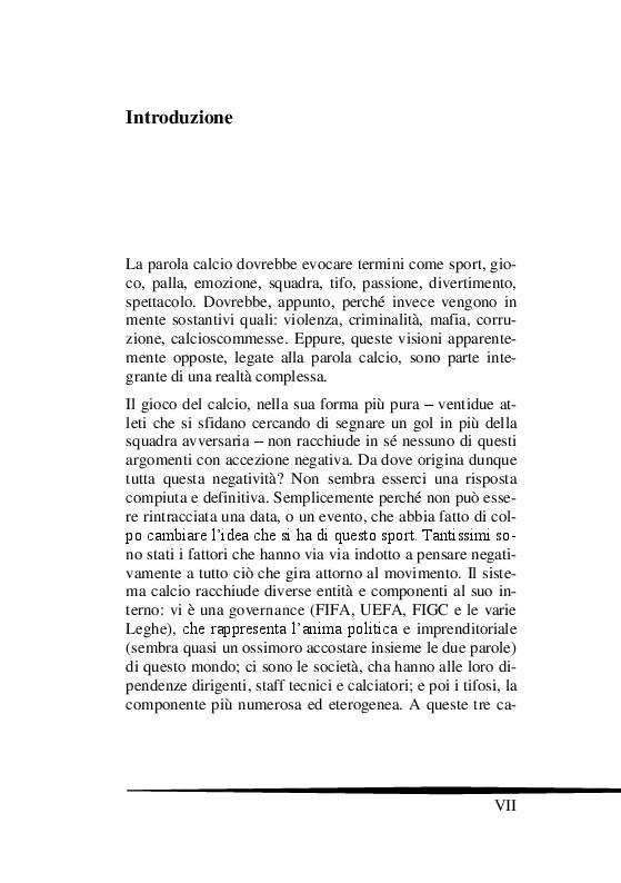 Anteprima della tesi: Il Tifo Calcistico in Italia tra Passione, Violenza e Mafia. Il giornalismo, la politica e il fenomeno ultras, Pagina 2