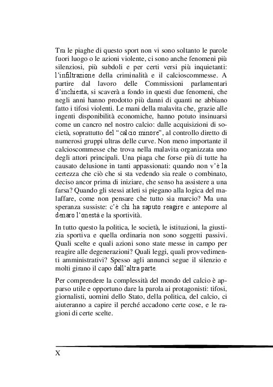 Anteprima della tesi: Il Tifo Calcistico in Italia tra Passione, Violenza e Mafia. Il giornalismo, la politica e il fenomeno ultras, Pagina 5