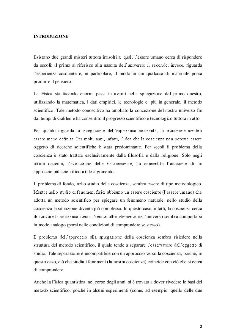 Anteprima della tesi: La coscienza nella Teoria dell'Informazione Integrata: una prospettiva relativistica, Pagina 2