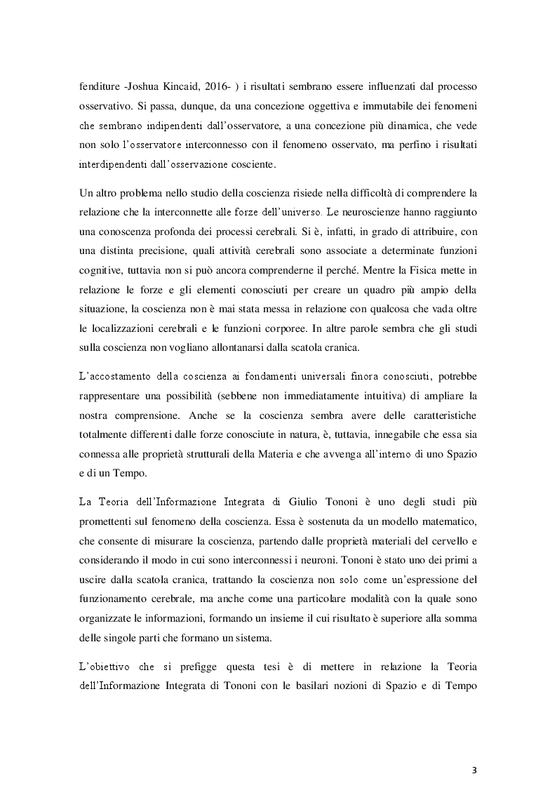 Anteprima della tesi: La coscienza nella Teoria dell'Informazione Integrata: una prospettiva relativistica, Pagina 3