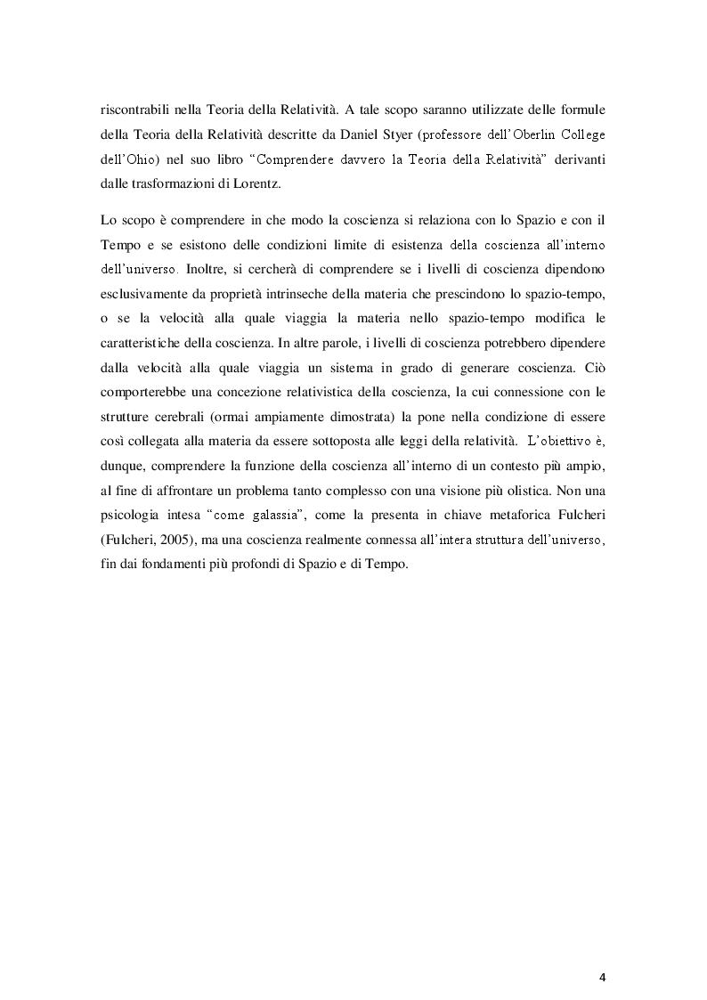 Anteprima della tesi: La coscienza nella Teoria dell'Informazione Integrata: una prospettiva relativistica, Pagina 4