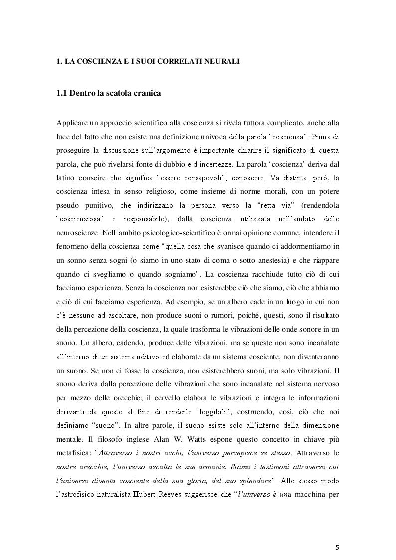 Anteprima della tesi: La coscienza nella Teoria dell'Informazione Integrata: una prospettiva relativistica, Pagina 5