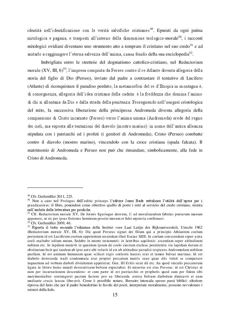 Estratto dalla tesi: Il mito di Perseo nelle Genealogie deorum gentilium di Giovanni Boccaccio