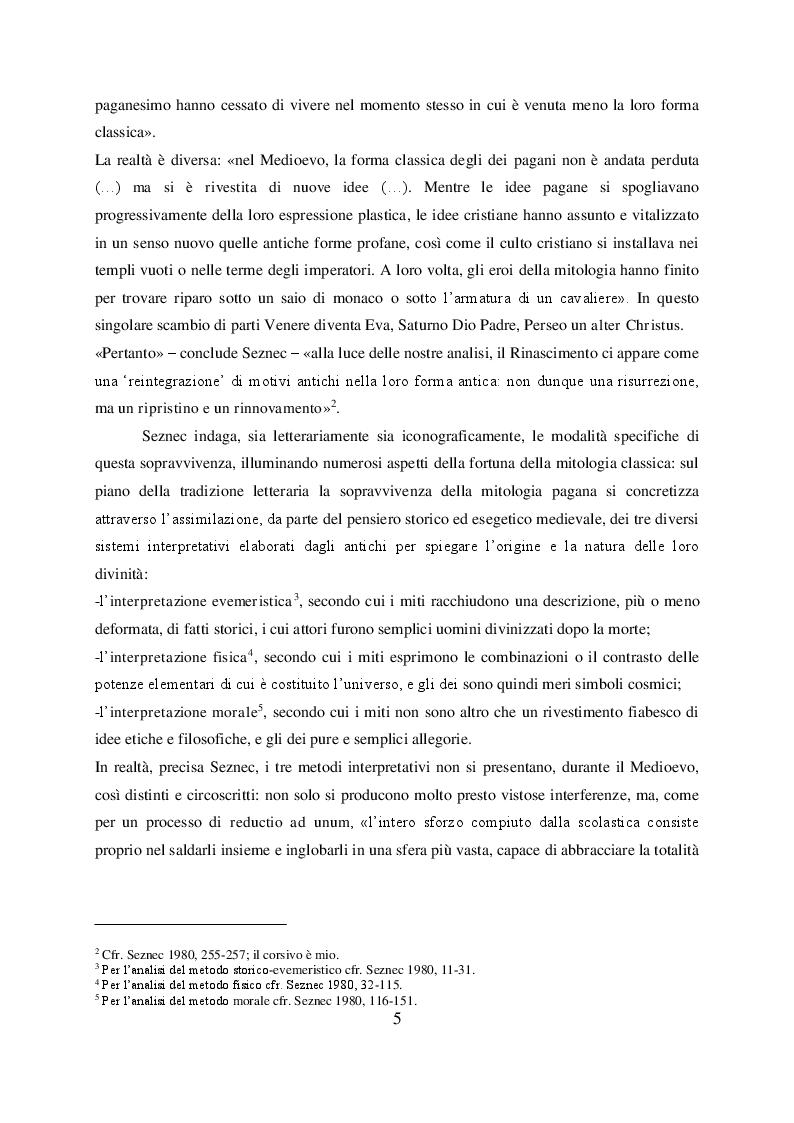 Anteprima della tesi: Il mito di Perseo nelle Genealogie deorum gentilium di Giovanni Boccaccio, Pagina 3