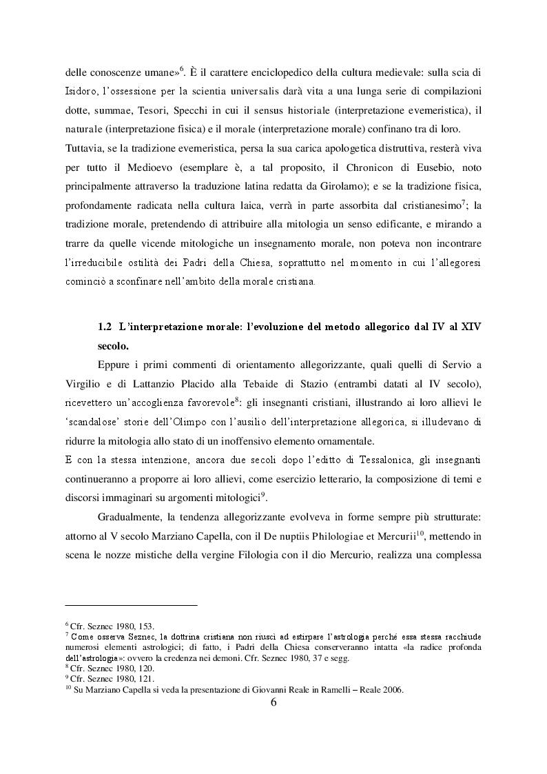 Anteprima della tesi: Il mito di Perseo nelle Genealogie deorum gentilium di Giovanni Boccaccio, Pagina 4