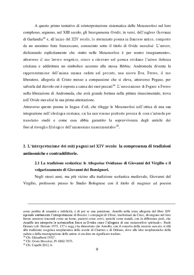 Anteprima della tesi: Il mito di Perseo nelle Genealogie deorum gentilium di Giovanni Boccaccio, Pagina 7
