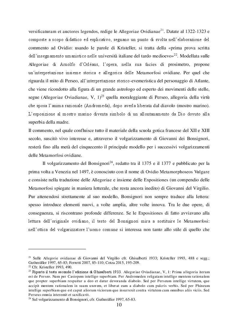 Anteprima della tesi: Il mito di Perseo nelle Genealogie deorum gentilium di Giovanni Boccaccio, Pagina 8