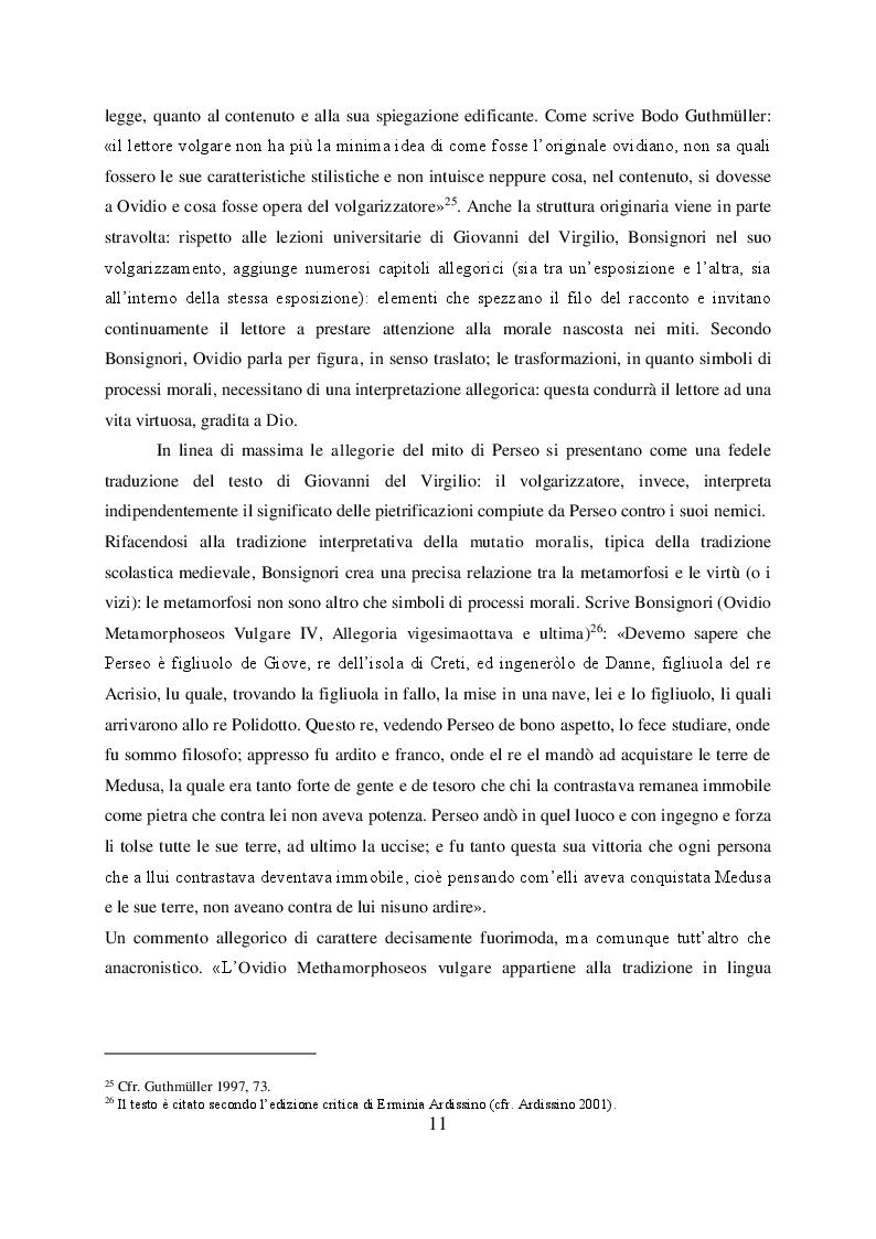 Anteprima della tesi: Il mito di Perseo nelle Genealogie deorum gentilium di Giovanni Boccaccio, Pagina 9