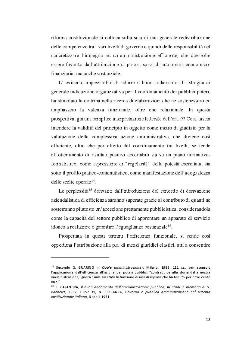 Estratto dalla tesi: Amministrazione di risultato: prospettive e profili attuativi