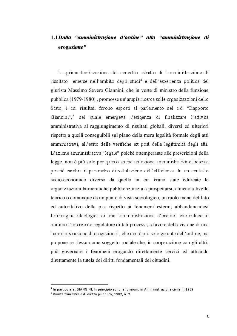 Anteprima della tesi: Amministrazione di risultato: prospettive e profili attuativi, Pagina 5