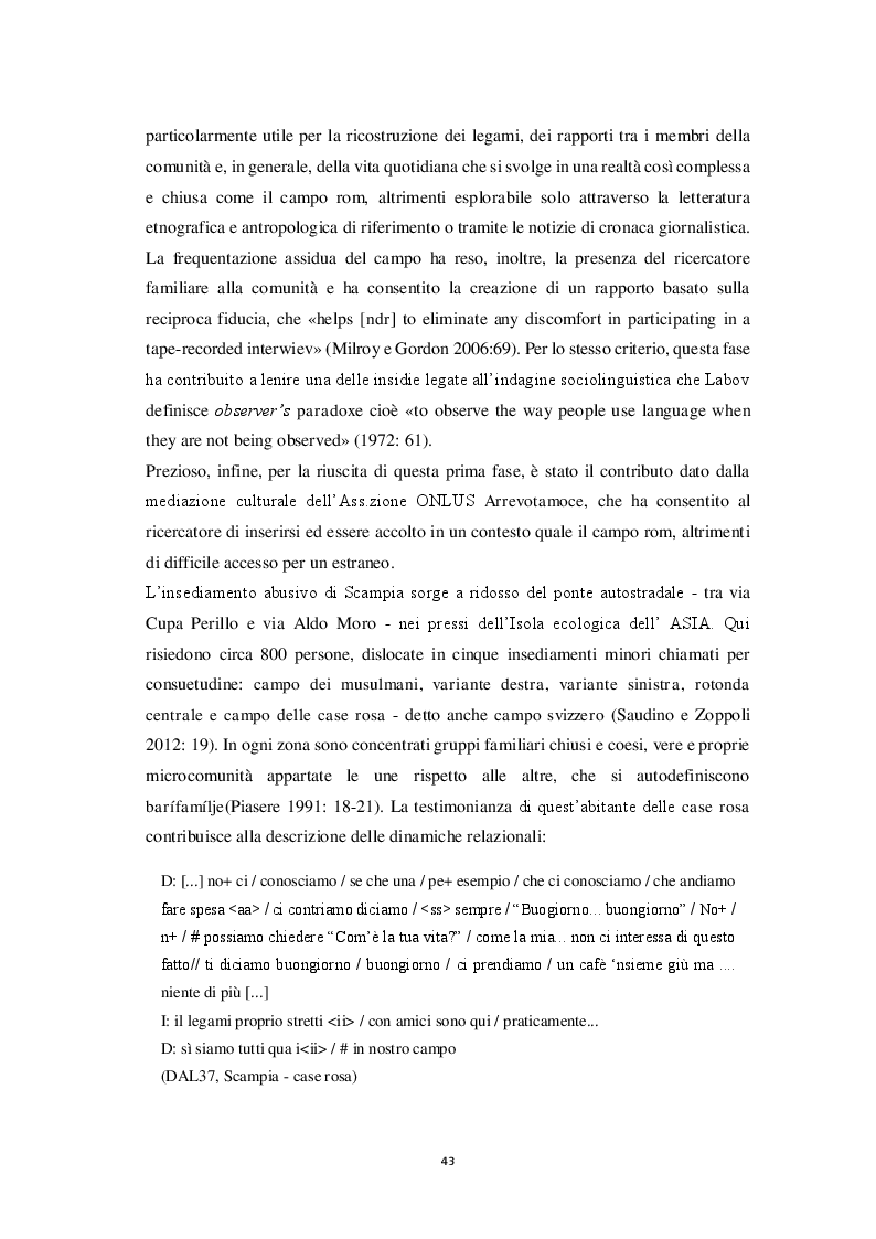 Anteprima della tesi: Aspetti morfosintattici dell'italiano L2 di madrelingua romanès, Pagina 3