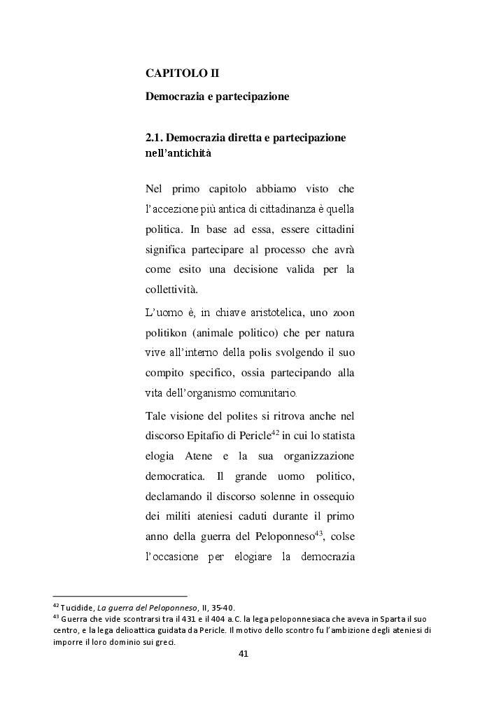Anteprima della tesi: Cittadinanza e l'educazione del cittadino, Pagina 2
