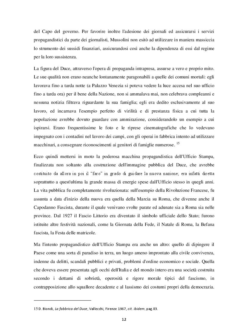 Estratto dalla tesi: La politica fascista tra rivoluzione e ricerca del consenso: uno sguardo d'insieme e il caso del territorio livornese