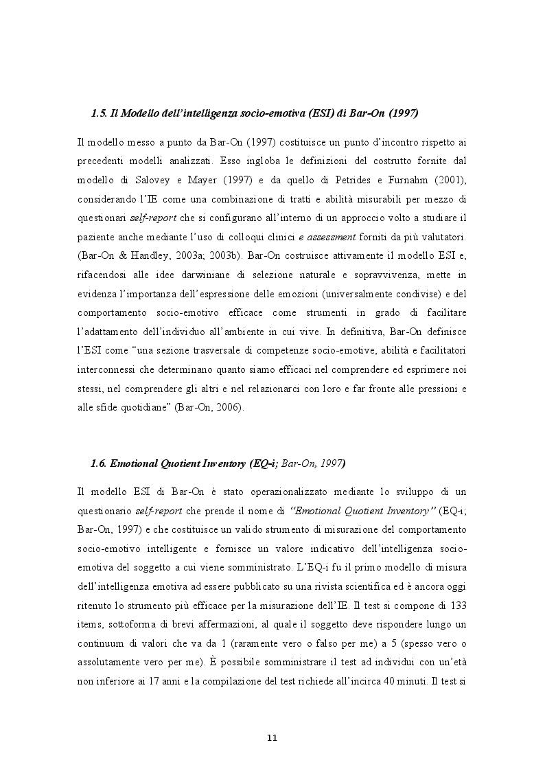 Estratto dalla tesi: Il ruolo dell'Intelligenza Emotiva nell'Ansia e nella Depressione