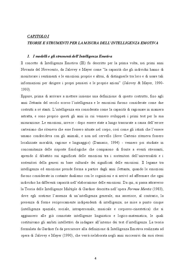 Anteprima della tesi: Il ruolo dell'Intelligenza Emotiva nell'Ansia e nella Depressione, Pagina 3