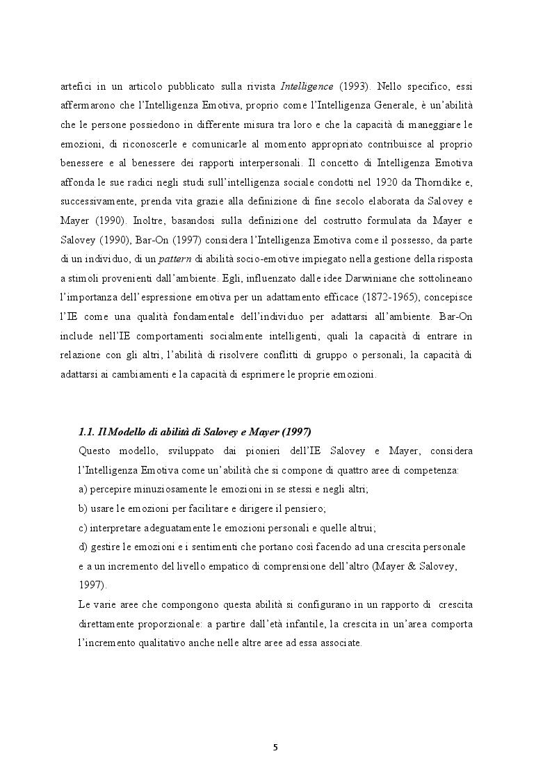Anteprima della tesi: Il ruolo dell'Intelligenza Emotiva nell'Ansia e nella Depressione, Pagina 4