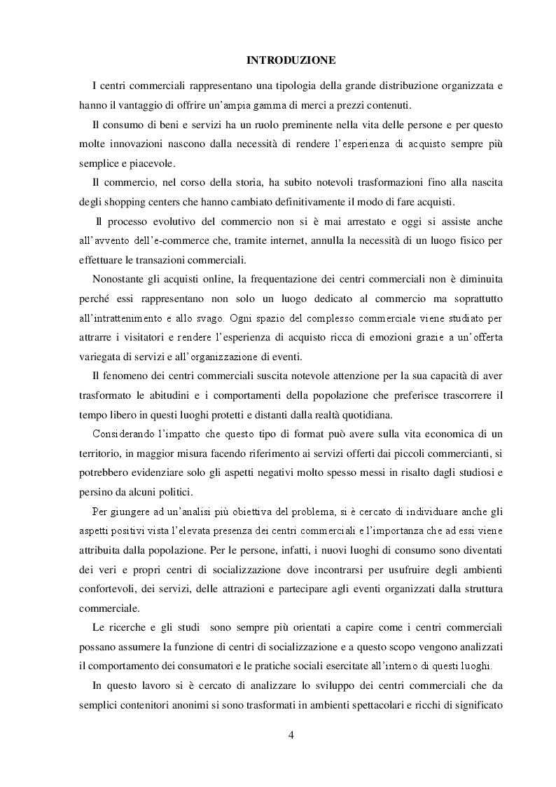 Anteprima della tesi: I Centri Commerciali e la Responsabilità Sociale: La Collaborazione dei diversi Stakeholder per la promozione del benessere collettivo, Pagina 2