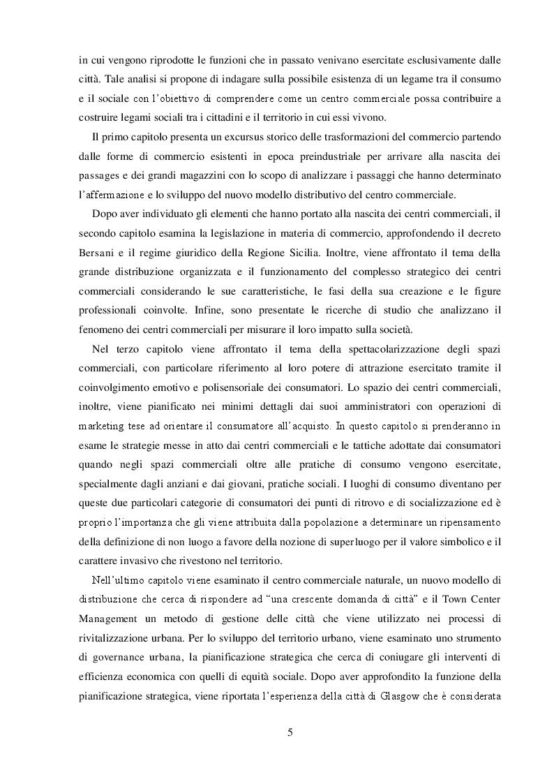 Anteprima della tesi: I Centri Commerciali e la Responsabilità Sociale: La Collaborazione dei diversi Stakeholder per la promozione del benessere collettivo, Pagina 3