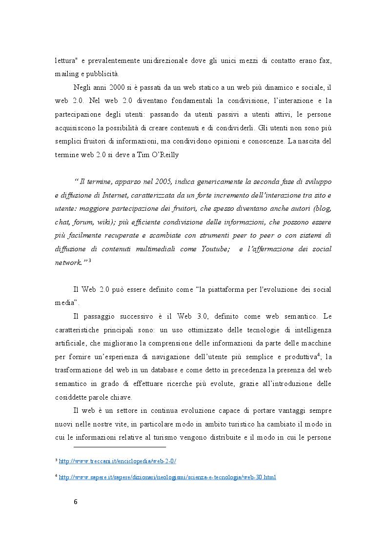 Anteprima della tesi: Turismo Digitale: il viaggio ai tempi dei social media, Pagina 4