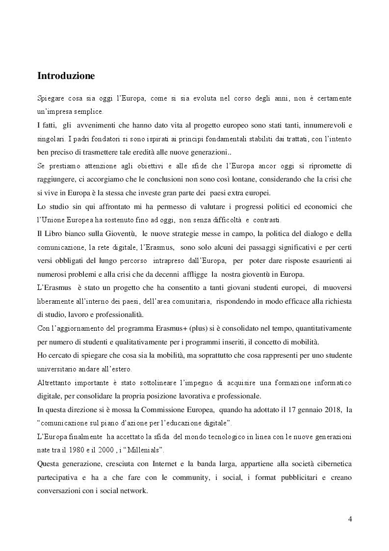 Anteprima della tesi: I Millenials Erasmus: l'innovazione sociale passa attraverso il digitale, Pagina 2