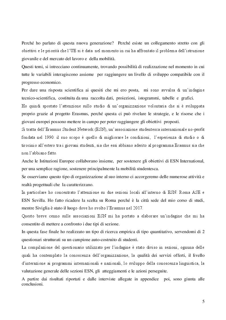Anteprima della tesi: I Millenials Erasmus: l'innovazione sociale passa attraverso il digitale, Pagina 3