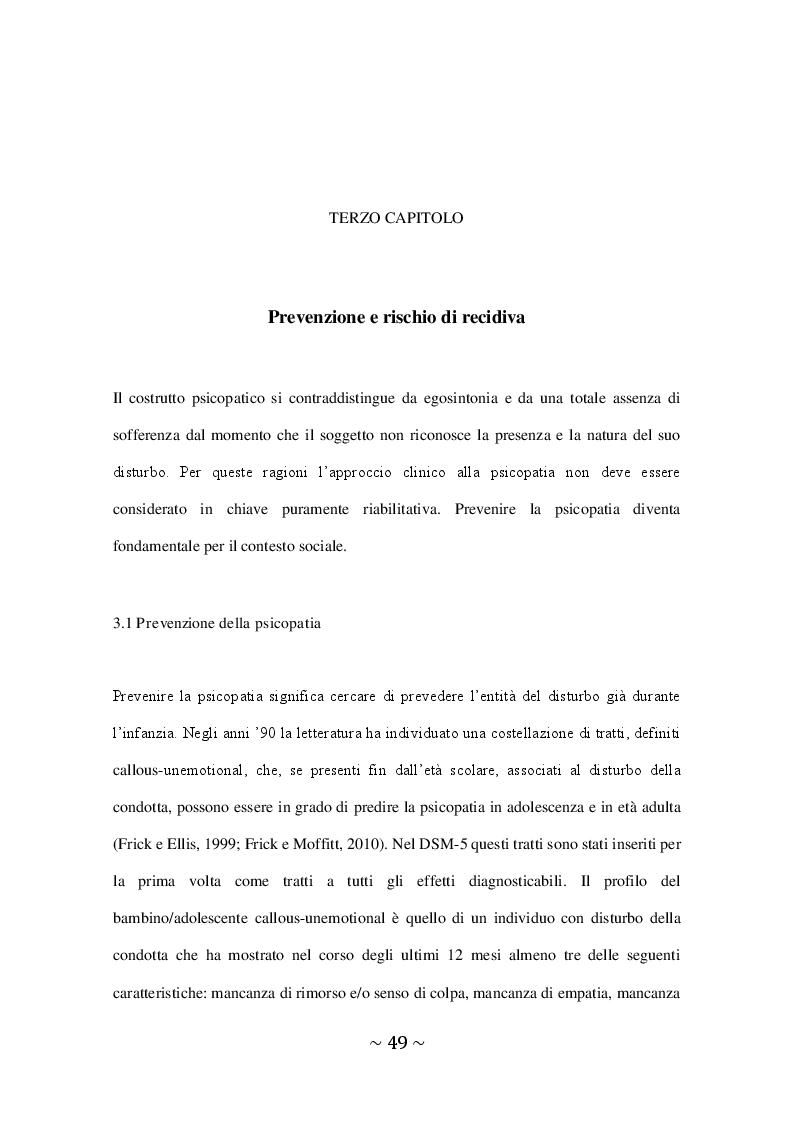 Anteprima della tesi: Il Disturbo Psicopatico di Personalità, Pagina 2