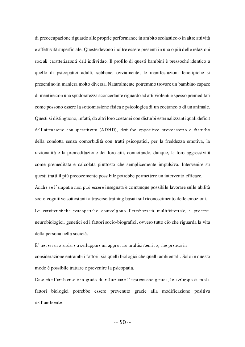 Anteprima della tesi: Il Disturbo Psicopatico di Personalità, Pagina 3
