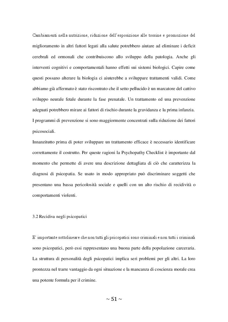 Anteprima della tesi: Il Disturbo Psicopatico di Personalità, Pagina 4