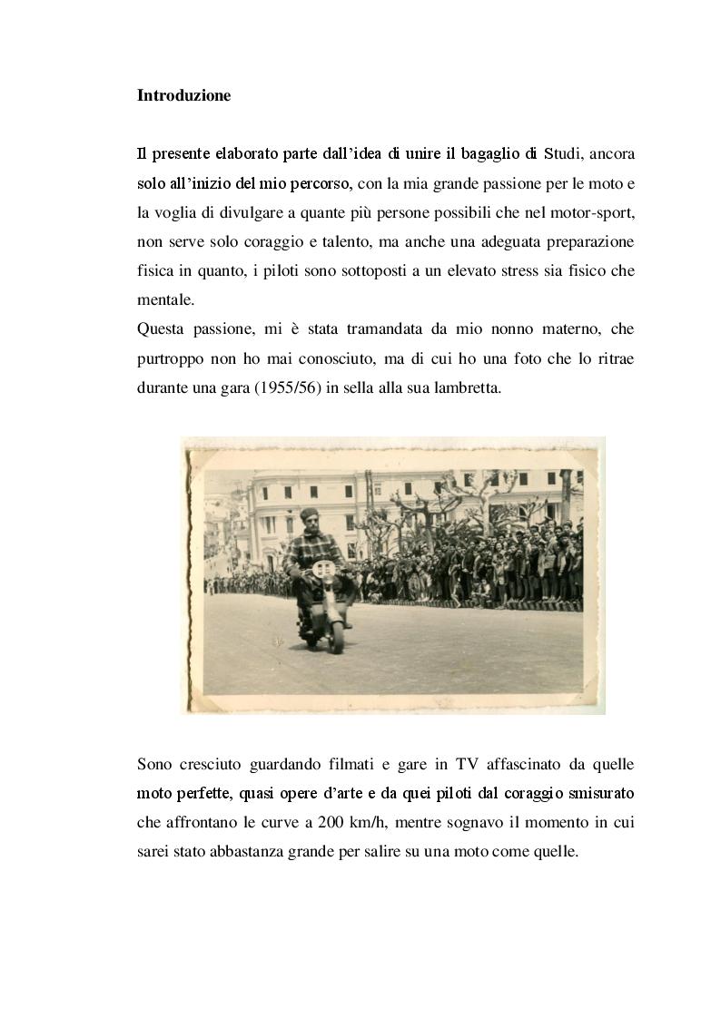 Anteprima della tesi: Profilo fisiologico nelle competizioni motociclistiche a carattere professionistico, Pagina 2