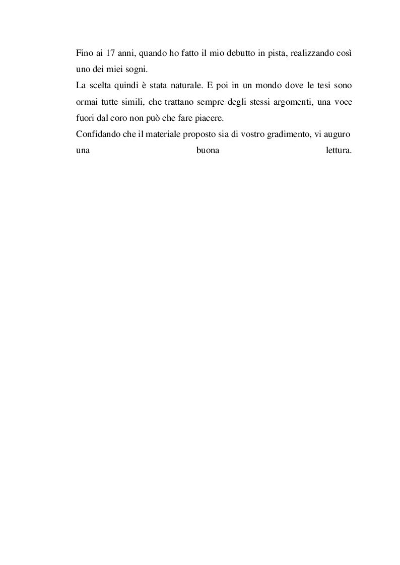 Anteprima della tesi: Profilo fisiologico nelle competizioni motociclistiche a carattere professionistico, Pagina 3