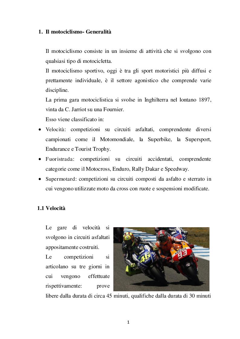 Anteprima della tesi: Profilo fisiologico nelle competizioni motociclistiche a carattere professionistico, Pagina 4