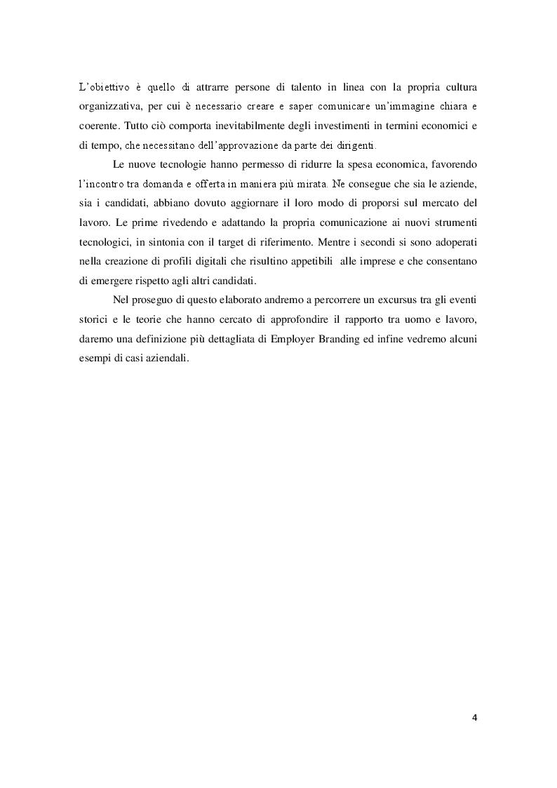 Anteprima della tesi: Employer Branding: il marketing applicato alla gestione delle risorse umane, Pagina 3