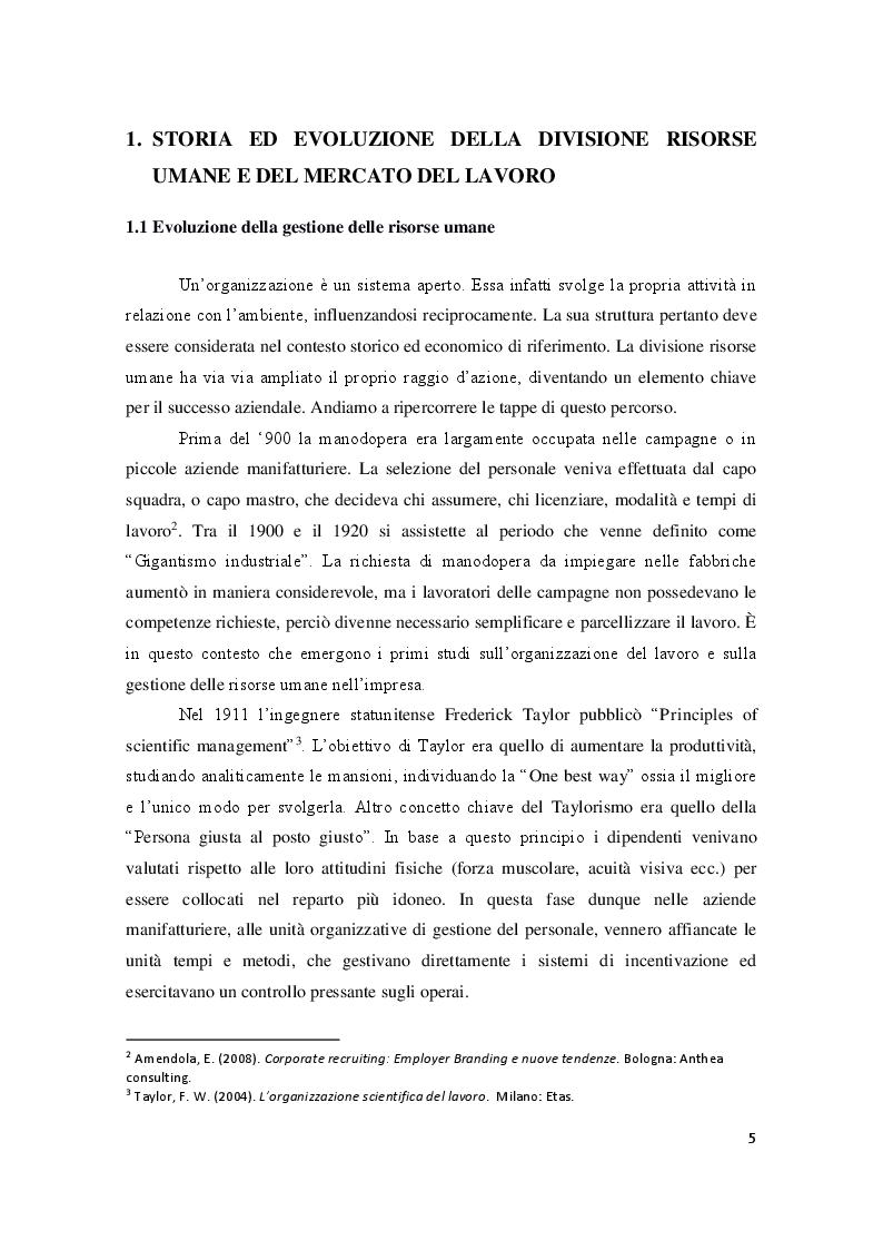Anteprima della tesi: Employer Branding: il marketing applicato alla gestione delle risorse umane, Pagina 4