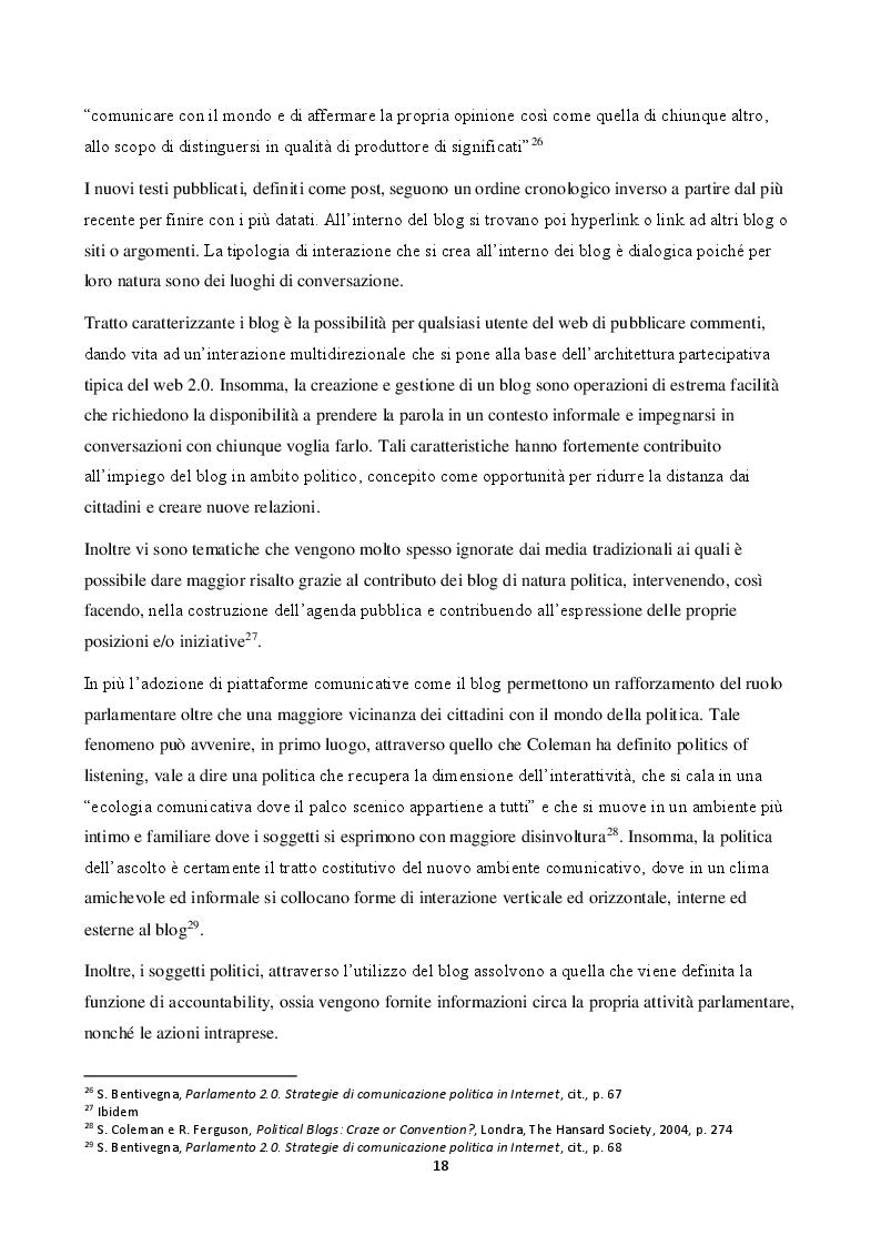 Anteprima della tesi: La comunicazione politica nell'era del web 2.0, Pagina 3