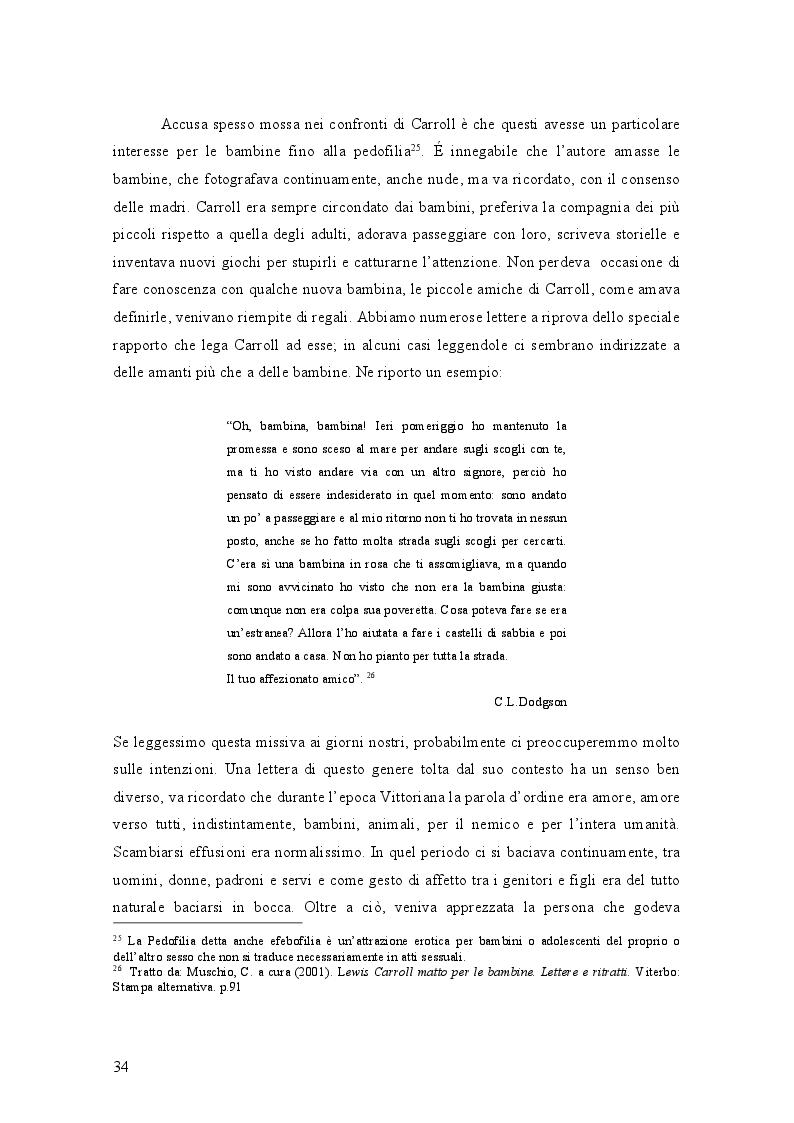 Anteprima della tesi: Il mondo di Carroll e la schizofrenia. Confronto tra il comportamento schizofrenico e le opere di Lewis Carroll, Pagina 7
