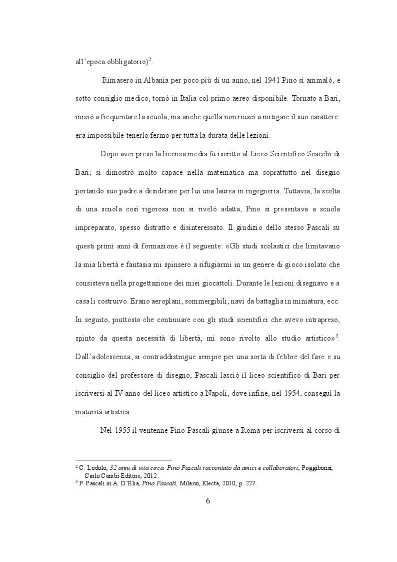 Anteprima della tesi: Pino Pascali. Riflessioni sui quattro anni di attività (1964 - 1968), Pagina 5