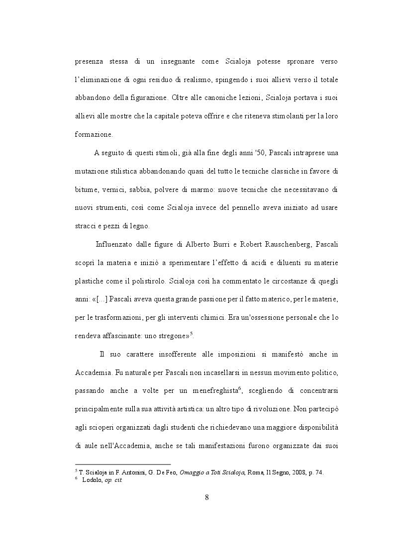 Anteprima della tesi: Pino Pascali. Riflessioni sui quattro anni di attività (1964 - 1968), Pagina 7