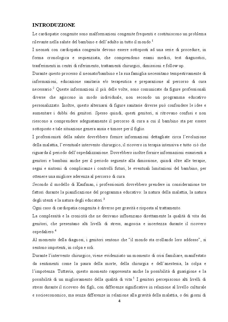 Anteprima della tesi: Bambino Cardiopatico: proposta di una guida a sostegno dei genitori dalla diagnosi alla cura, Pagina 2
