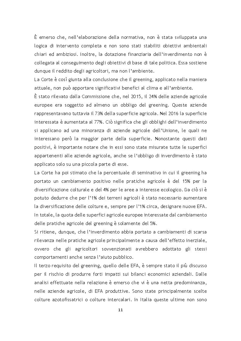 Estratto dalla tesi: L'effetto della riforma Pac 2014-2020 sulle superfici agrarie in Italia