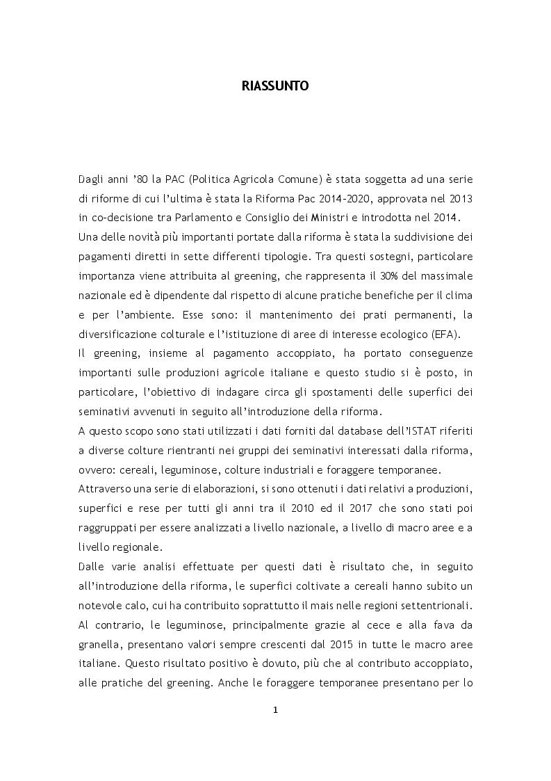 Anteprima della tesi: L'effetto della riforma Pac 2014-2020 sulle superfici agrarie in Italia, Pagina 2